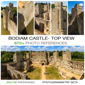BODIAM CASTLE - TOP VIEW