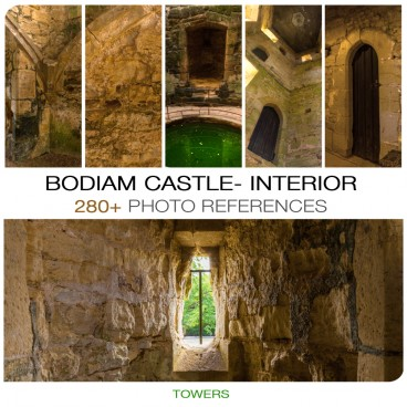 BODIAM CASTLE - TOWERS INTERIOR