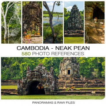 Cambodia - Neak Pean  Photo Packs