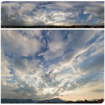Cloudy Sunset 9880 (30k) HDRI Panoramas