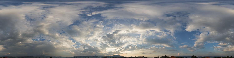 Cloudy Sunset 9880 (30k) HDRI