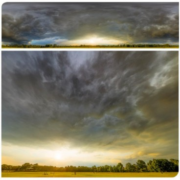 Dramatic Stormy Sunset 9142 (30k) HDRI Panoramas