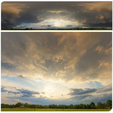 Dramatic Stormy Sunset 9730 (30k) HDRI Panoramas