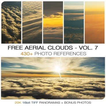 FREE AERIAL CLOUDS - PHOTO PACK VOL. 7