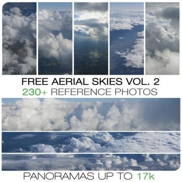 Free aerial skies - photo pack vol. 2