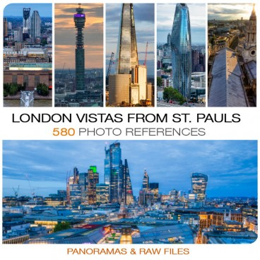 London Vistas from St. Pauls Cathedral  Photo Packs