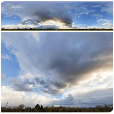 Rainy Clouds 3494 (30k) HDRI Panoramas