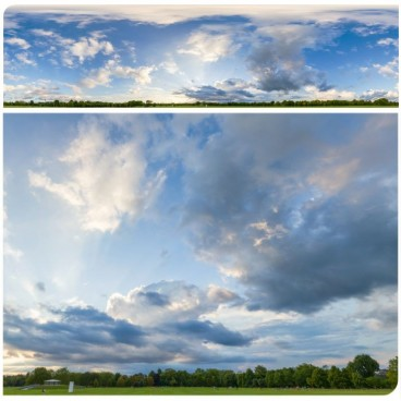 Rainy Clouds 3661 (30k) HDRI Panoramas