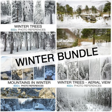 WINTER - MOUNTAINS AND TREES BUNDLE